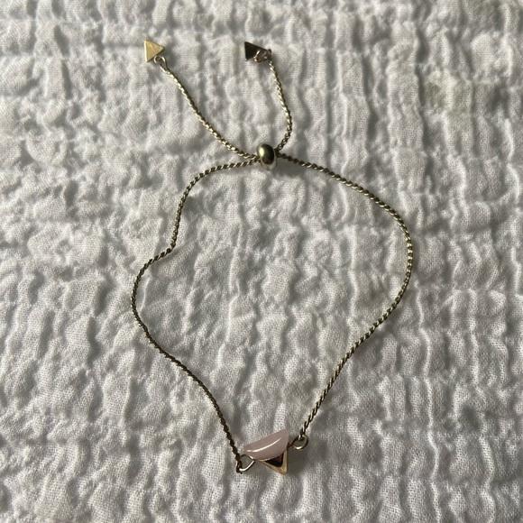 Brandy Melville Jewelry - Gold triangle bracelet
